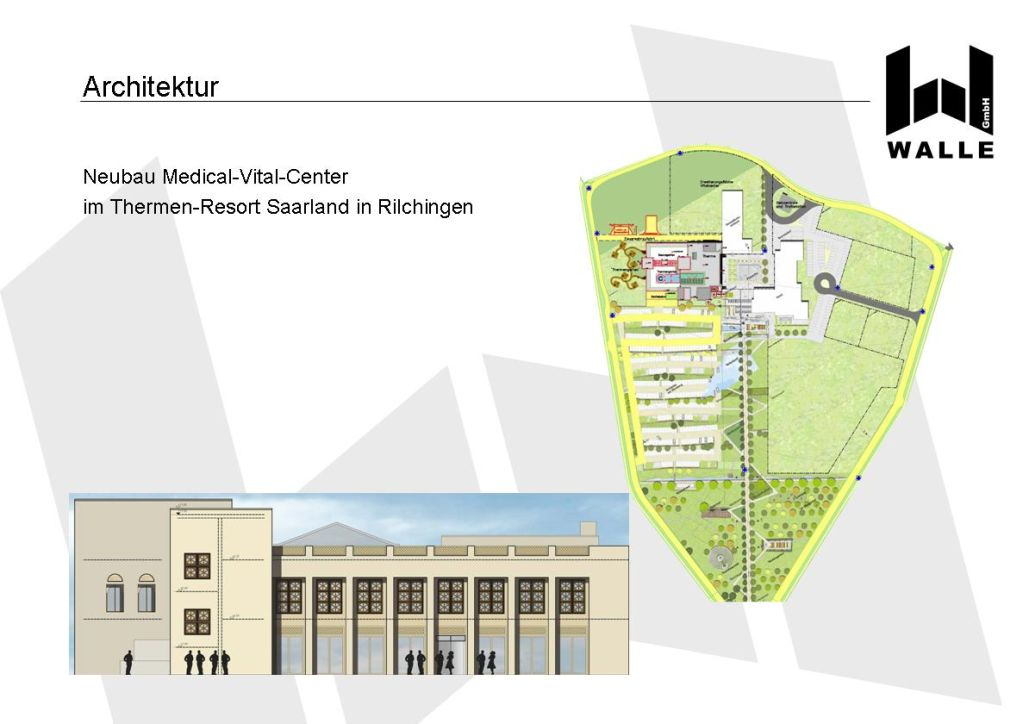 Neubau MVC Medical-Vital-Center im Thermen-Resort Saarland, Rilchingen